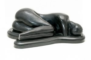 bronze sculpture-sleeping beauty
