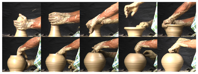 hand positions on the potter's wheel