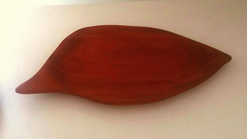 hand carved mahogany tray