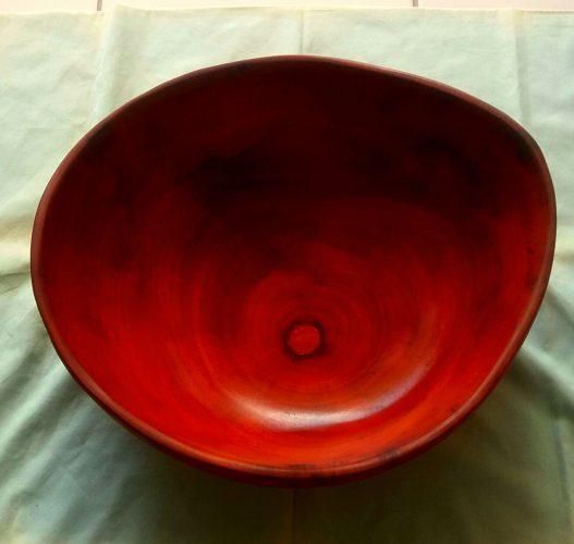 large mahogany bowl