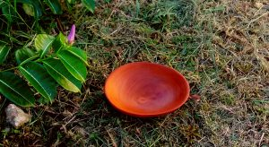 sm handcarved wooden bowl