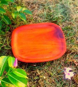 12 inch handcarved mahogany tray