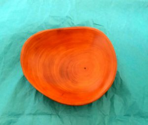 sm. hand-carved wooden bowl,
