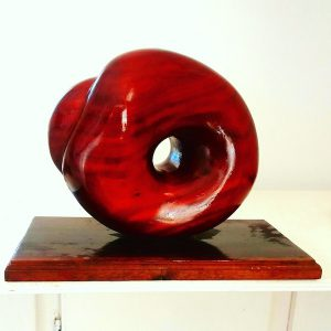 mahogany wood art form 3