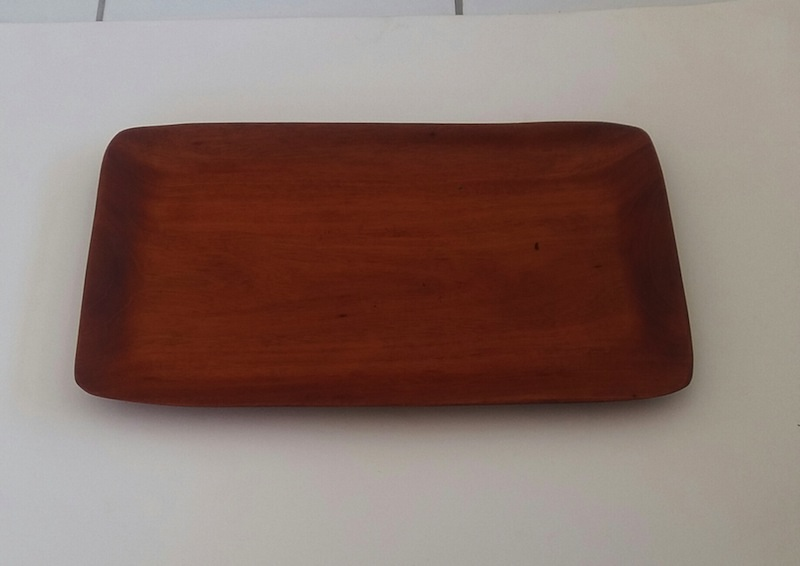 mahogany tray 16 x 93/4 -nches