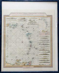 Caribbean nautical map