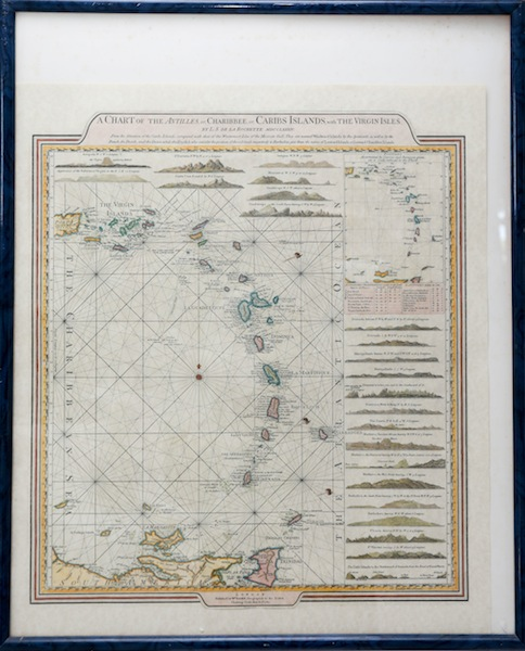 Caribbean nautical map