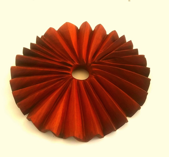 sunburst-wood carving