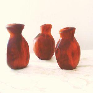 mahogany rose vase